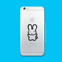 Tokomonster Decal Sticker Apple iPhone - Cute rabbit - 4 Buah