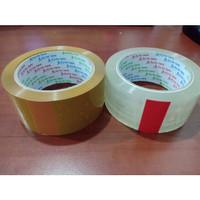 Lakban Coklat Bening Goal Tape 2 inch 100 Yard Kualitas Lakban Daimaru - Cokelat