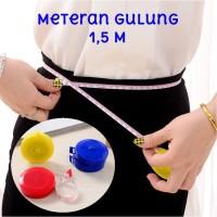 Meteran Gulung 1,5M Measuring Tape Measure Band Tape Alat Ukur