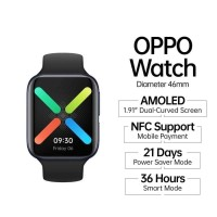 OPPO Watch 46mm - AMOLED Curved Display - VOOC Flash Charge