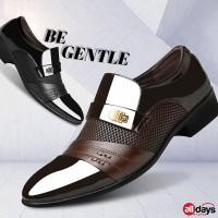 Alldays Sepatu Pantofel Slip On Kulit Formal Pria 7-33 - Hitam, 44