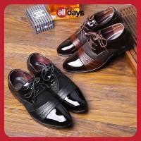 Alldays ~ Sepatu Pantofel Temali Slip On Kulit Formal Pria 7-22 - Hitam, 39