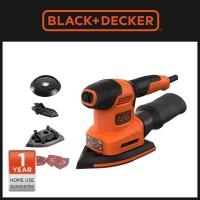 Black+Decker Mesin Amplas Listrik Multi Sander 3 Set 200W (BEW200-B1)