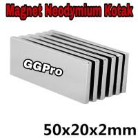 Magnet Neodymium Kotak 50x20x2 mm Super Kuat rarely