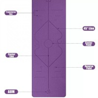 YOGA MAT / TPE YOGA MAT / YOGA MAT DOUBLE PURPLE