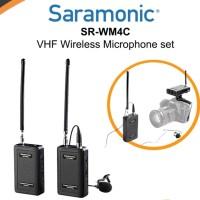 mic wireless saramonic SR WM4C. 4 Chanel VHF microphone
