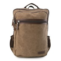 Urban State - Canvas PU Laptop Backpack - Brown