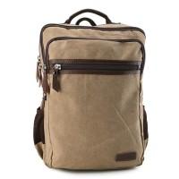 Urban State - Canvas PU Laptop Backpack - Khaki
