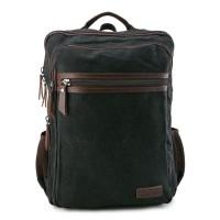 Urban State - Canvas PU Laptop Backpack - Black