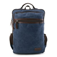 Urban State - Canvas PU Laptop Backpack - Navy
