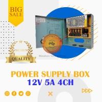 POWER SUPPLY CCTV BOX ADAPTOR 12V 5A 4Ch / PSU box panel 4 channel