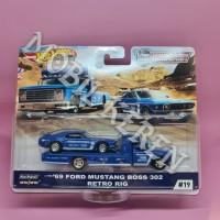 Hot Wheels Premium Team Transport 69 Ford Mustang Boss 302 & Retro Rig
