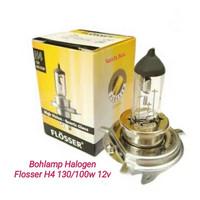 Bohlam - Lampu - Halogen H4 - 12v - 130/100w - FLOSSER Original