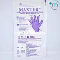 Sarung Tangan Bedah Steril MAXTER ukuran 6, 6.5, 7, 7.5