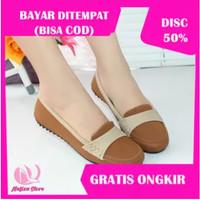 Sepatu Wanita Gratica Flat Shoes Sepatu Kerja Flatshoes Murah RJ20 - Merah Muda, 36