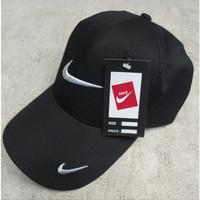 Topi Sport / Topi Nike / Topi Baseball Pria dan Wanita - Hitam, All Size