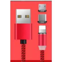 Kabel Data Charger Magnet 3 in 1 Nylon Tali Sepatu Fast Charging murah
