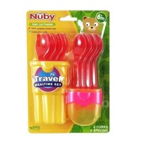 Nuby Baby Led Feeding Travel Mealtime Set Alat Makan Anak