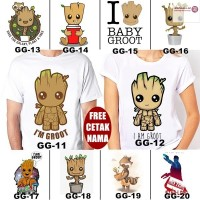 KAOS & BAJU GUARDIAN OF THE GALAXY GROOT DEWASA BANYAK MOTIF