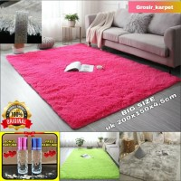 karpet bulu tebal uk200x150x4,5cm