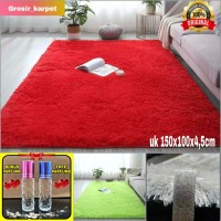 karpet bulu empuk uk150x100x4,5cm