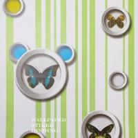Home Wallpaper Sticker Dinding Salur Kupu Kupu Hijau - 45cm x +/-10 m