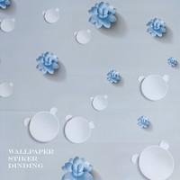 PROMO!Home Wallpaper Sticker Dinding Kembang Air Biru - 45cm x +/-10 m