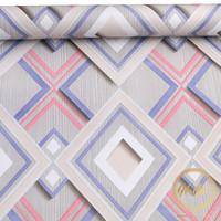 Home Wallpaper Sticker Dinding Motif Limas Biru - 45cm x +/-10 m