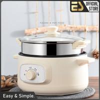 ES Panci Listrik Portable Fry Pan Steam Pot Panci Elektrik Portable
