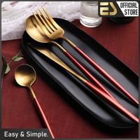 ES set sendok garpu pisau stainless steel pisau steak set