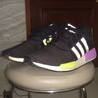 "Adidas NMD R1 OFF BLACK PURPLE"" VNDS ukuran 44 