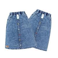 Rok Anak Perempuan Panjang Jeans usia 6-9 Tahun NOEMI