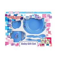 LB1412 LUSTY BUNNY 5 In 1 Feeding Set Peralatan Makan Bayi Baby Gift S