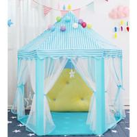 Tenda Anak Princess Castle Jumbo Mainan Anak Outdoor Portable AN8111 - - Biru Muda