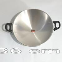 Panci Penggorengan / Kuali Wajan Halco Alumunium Pan 36 CM - Palembang