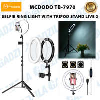 MCDODO TB-7970 SELFIE RING LIGHT WITH TRIPOD STAND & DUAL PHONE HOLDER