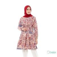 Atasan Muslim Wanita | Kirana Tunik Maroon | S M L XL | Monalisa