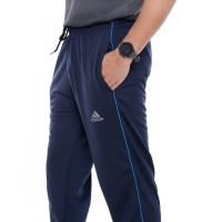 Training Olahraga / Pants Warna Navy AD01 Strip 1 Training Panjang - M, Biru