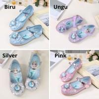 Sepatu Pesta Princess Glitter - Sepatu Frozen anak - Ungu, 24