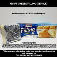 kraft/cheese/filling/repack 250gr/isian/keju/roti/nugget/donat/risoles