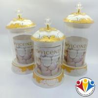 Toples Set Lebaran Vicenza / Glass Candy Jar Vicenza G301 TERMURAH