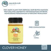 Clover Honey Hillary Farm 500 Gram - 100% Madu Clover New Zealand