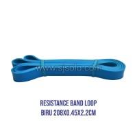 Resistance Band Loop Biru 2.2cm Tali Yoga Karet Elastis Fitness Gym