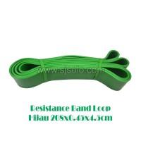 Resistance Band Loop Hijau 4.5cm Tali Yoga Karet Elastis Fitness Gym