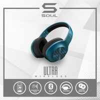Soul Ultra Wireless Headphone Bass Over Ear Bluetooth High Definition