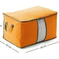 Bamboo Storage Box Multifungsi Tempat Pakaian Selimut, Bed Cover Baju
