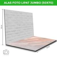 Alas Foto Lipat Jumbo Bata & Marmer Pink/ Background Foto (BLJ-16)