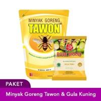 Paket Hemat Minyak Goreng Tawon 2L & Gula Kuning 1KG Rose Brand