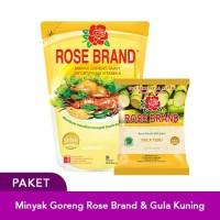 Paket Hemat Minyak Goreng Rose 2L & Gula Kuning 1KG Rose Brand