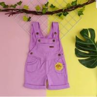 baju kodok anak 1 2 3 4 5 tahun overall anak pendek merk mybee ungu